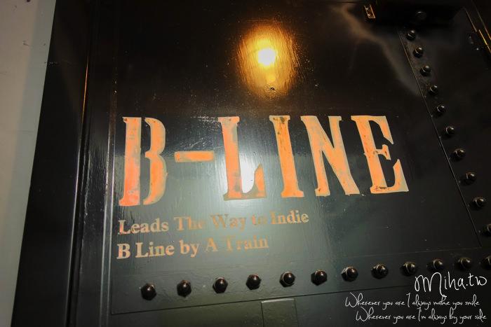 B LINE BY A TRAIN