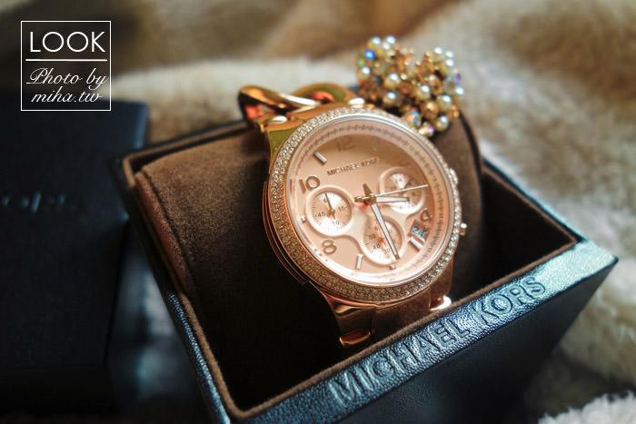 Michael Kors玫瑰金錶