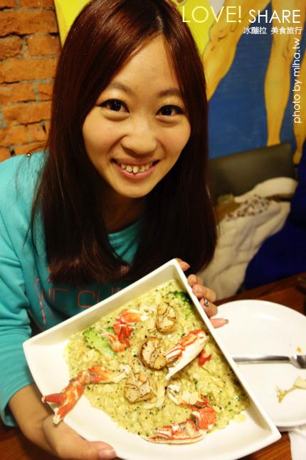 吃義燉飯 冰蹦拉