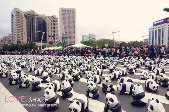 台北 ▌超萌紙貓熊特展「熊貓世界之旅」在台北市民廣場 捷運市府站2號出口