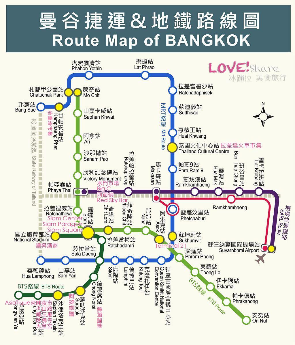 曼谷捷運地圖,曼谷bts地圖