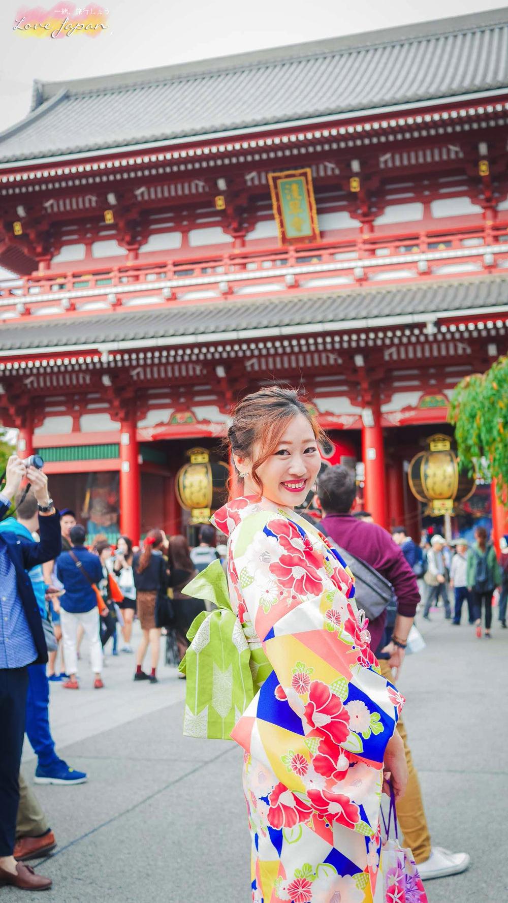 東京自由行,東京好玩,東京景點,東京淺草寺,東京穿和服,東京和服推薦,淺草愛和服,東京飯店推薦,雷門和服,淺草和服