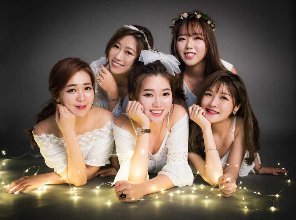 韓風婚紗推薦,台北婚紗推薦,閨蜜婚紗,感覺攝影工作室,感覺攝影,台北姊妹婚紗