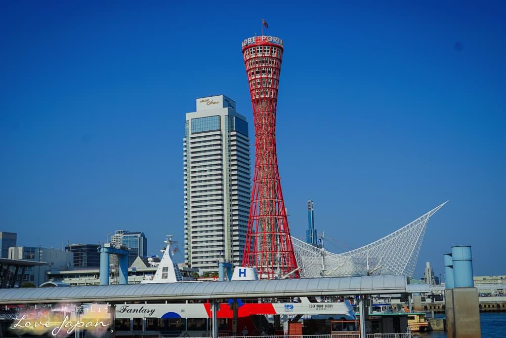 神戶自由行,大阪自由行,神戶港夜景,神戶港夕陽,神戶牛鐵板燒,神戶港油輪
